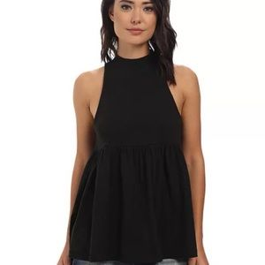 Free People Black Blouse Small